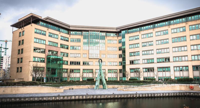 Grand Canal Plaza building in the hi tech center of  Dublin, Ireland stock images