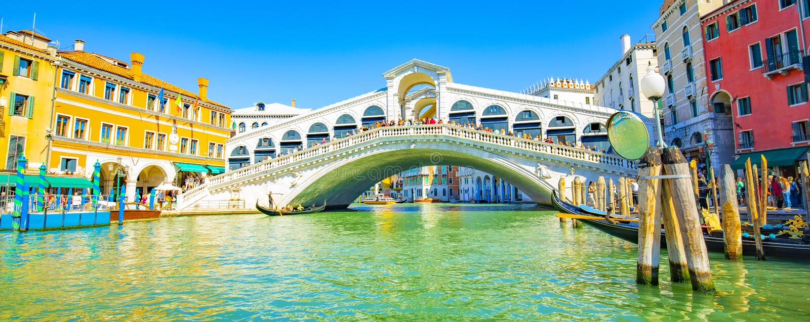 Grand Canal and Rialto bridge Venice royalty free stock image