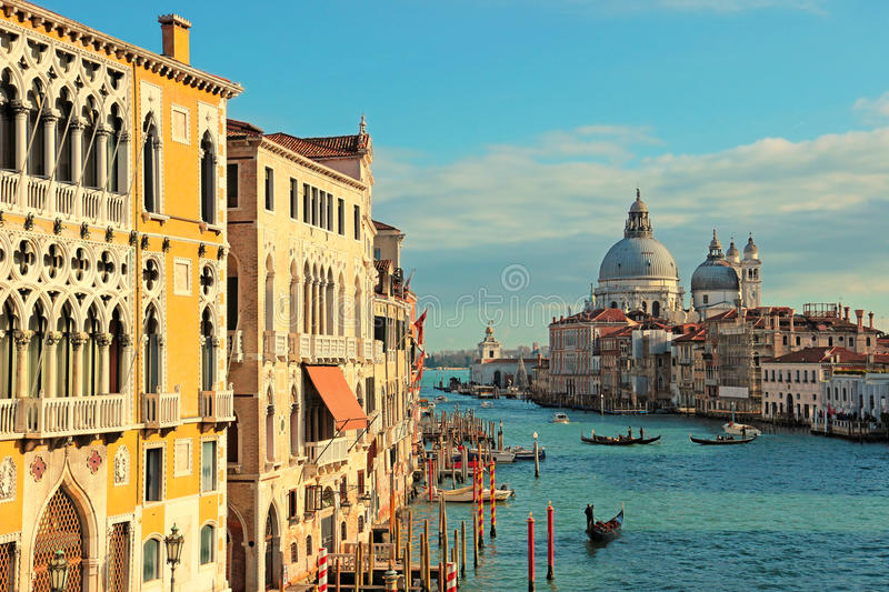 Download The Grand Canal Seen From The Accademia Bridge, Venice Stock Photo - Image: 83701103