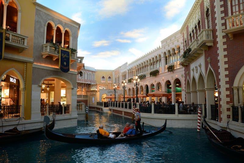 Grand Canal Shoppes bij Venetiaans Hotel Las Vegas stock afbeeldingen