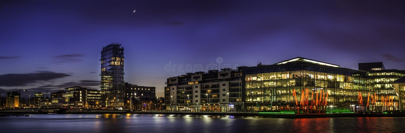 Grand Canal Square, Dublin royalty free stock photos