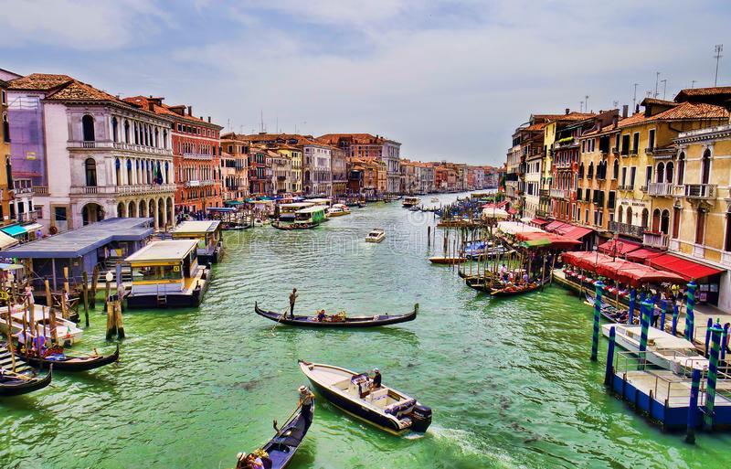 Grand Canal before sunset. The Grand Canal in Venice, Italy, before sunset on 10th June 2019 royalty free stock images