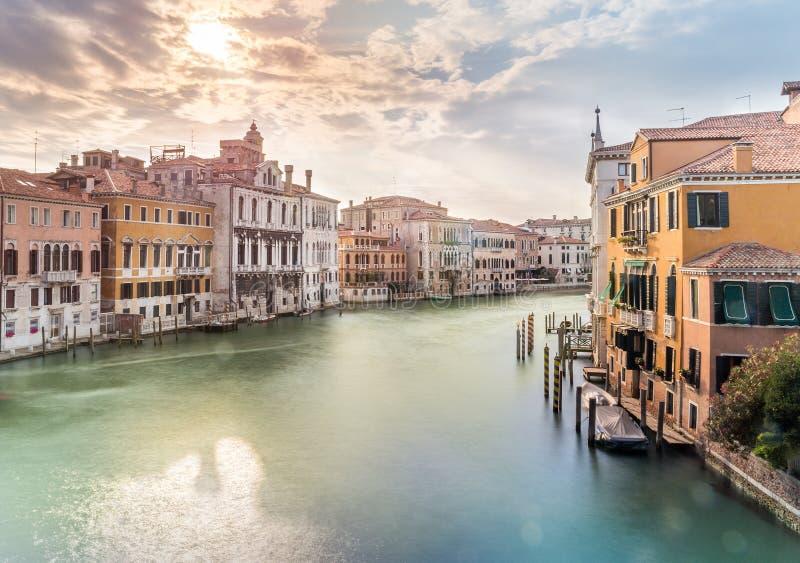 Grand Canal -Szene, Venedig lizenzfreies stockbild