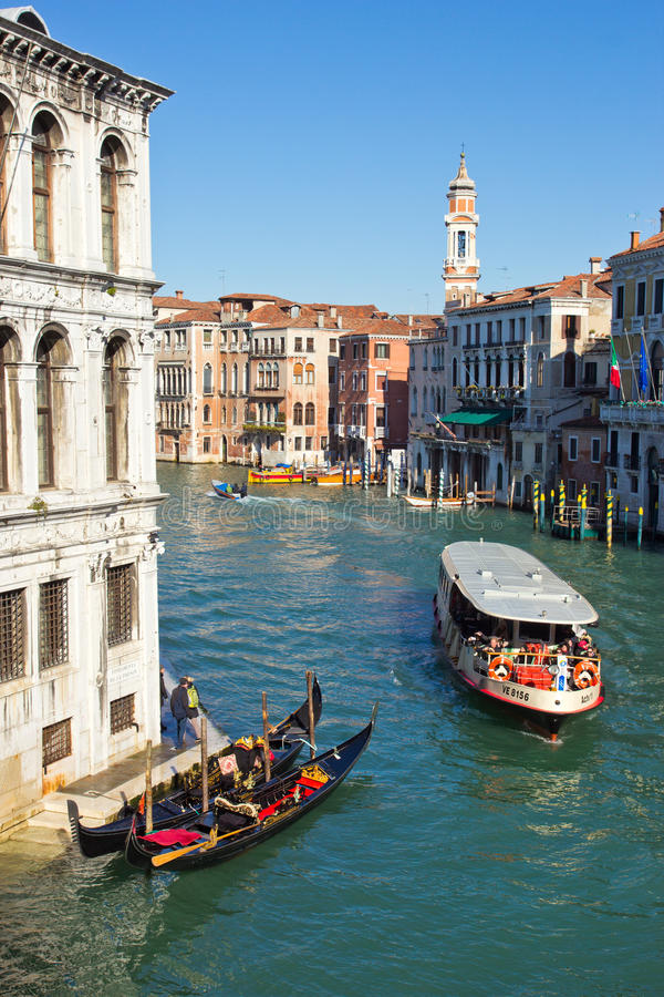 Grand Canal Venecia imagen de archivo