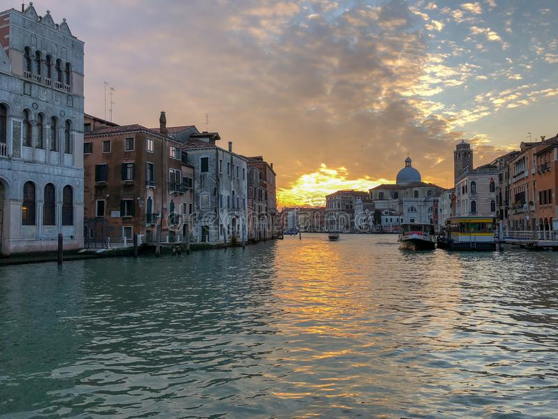 Grand Canal Venetië, Italië stock afbeelding