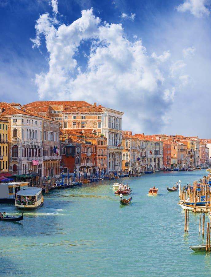 Grand Canal. Venetië. Italië. stock foto's