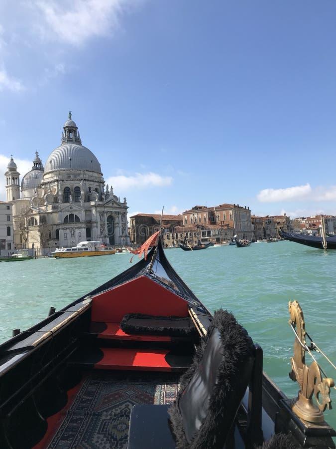 Grand Canal Venetië, Santa Maria della Salute, Italië royalty-vrije stock afbeelding
