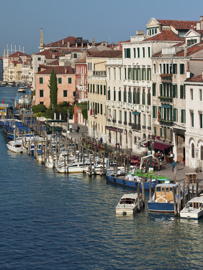 Grand Canal Veneza - Itália foto de stock royalty free