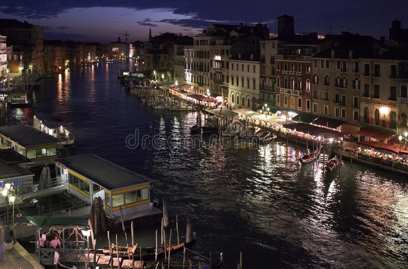 The Grand Canal in Venice - Italy. The Grand Canal in the city of Venice in northern Italy royalty free stock image