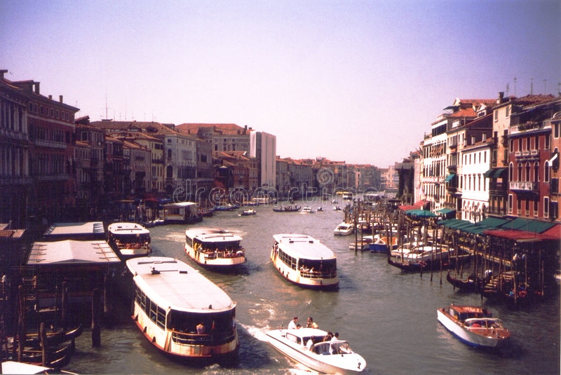 Download Grand canal - Venice Italy stock image. Image of city, boat - 44907