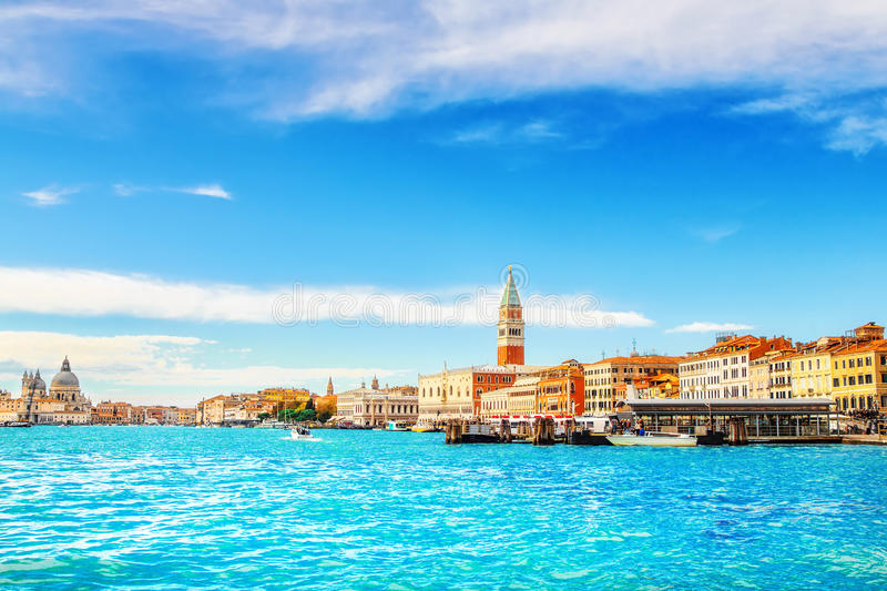 The Grand Canal, Venice. The Grand Canal in Venice, Italy royalty free stock photos