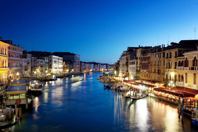 Grand Canal in Venice in Italy at sunset. Grand Canal in Venice, Italy at sunset stock photos