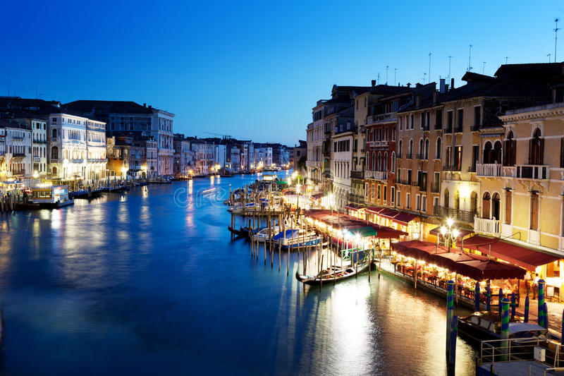 Grand Canal, Venice, Italy at sunset. Grand Canal in Venice, Italy at sunset stock images