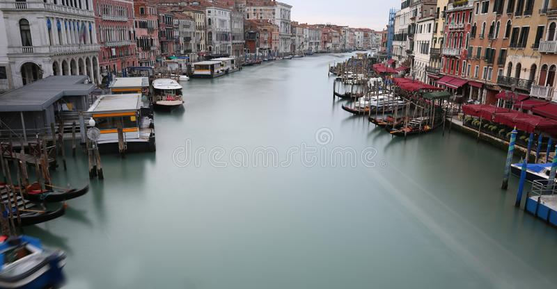 Grand Canal in Venice with the water that seems to stop because. Grand Canal in Venice Italy with the water that seems to stop because the picture was taken with stock images