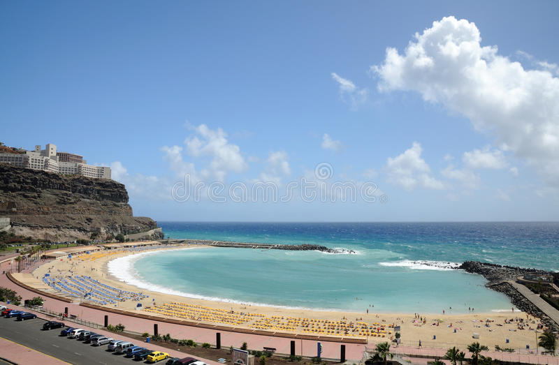Grand Canary Beach. Beach Playa de los Amadores on Grand Canary Island, Spain royalty free stock images