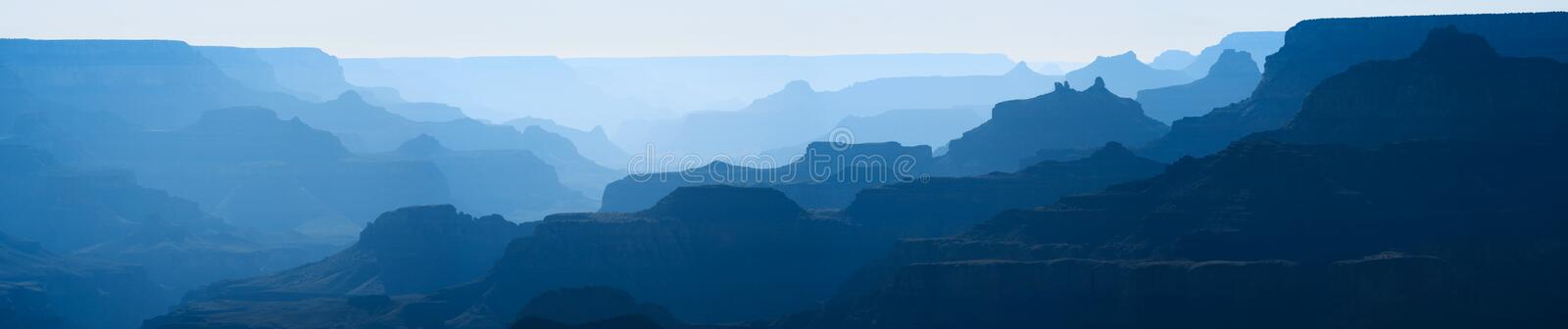 Grand Canyon überlagert Panorama lizenzfreies stockfoto