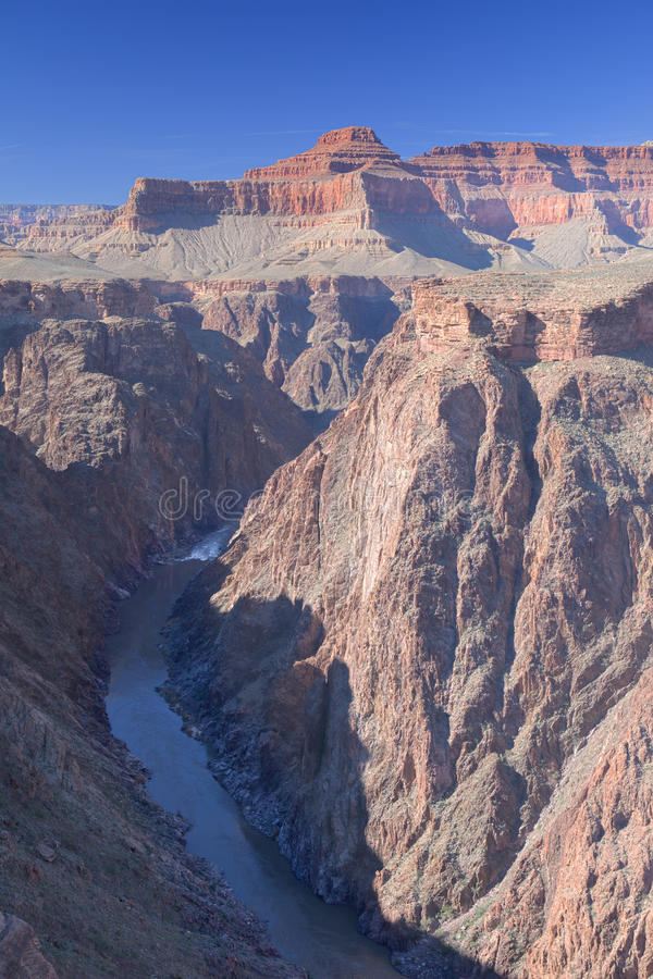 Grand Canyon. Colorado River in Grand Canyon view from Plateau Point stock photography