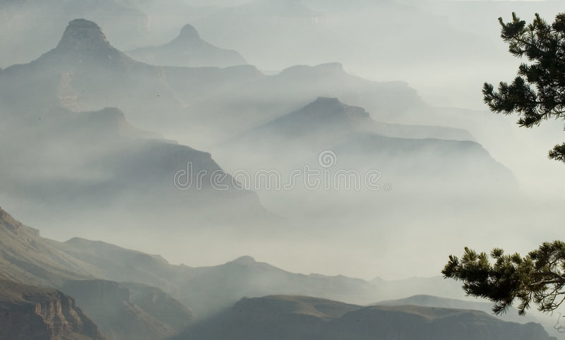 Download Grand Canyon stock photo. Image of mist, mountains, haze - 175430