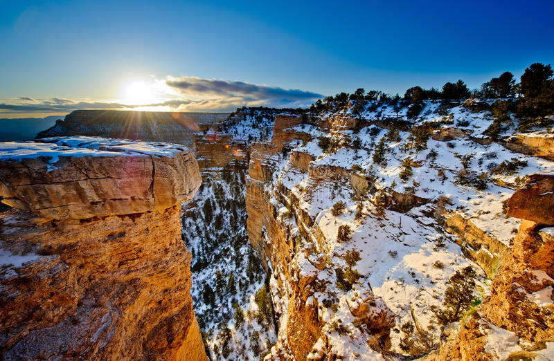 Grand Canyon. In Arizona in the winter stock photos