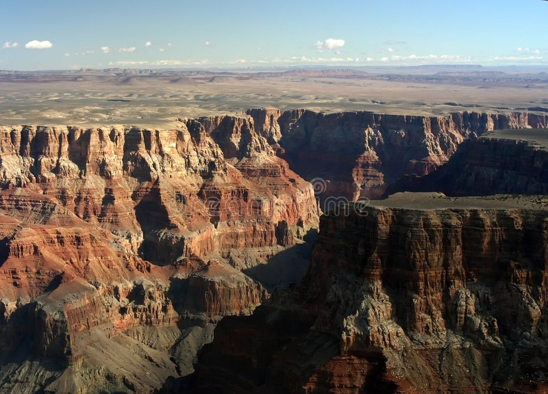 Grand Canyon Aerial royalty free stock photography