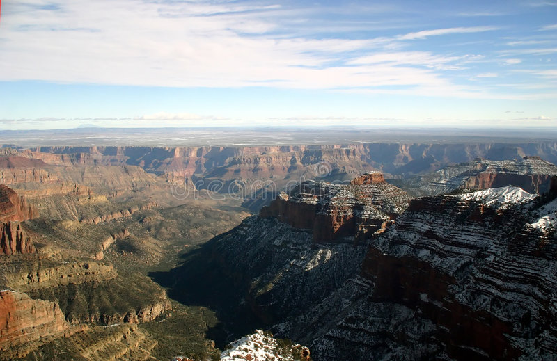 Download Grand Canyon Aerial View stock image. Image of scenic, snow - 119733
