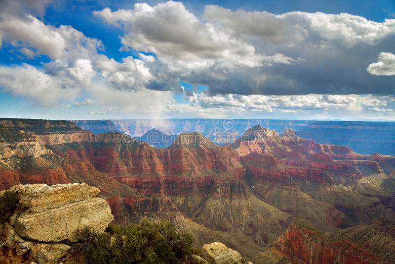 Grand Canyon Angel Trail Overlook Snow Flurries intelligent photos libres de droits