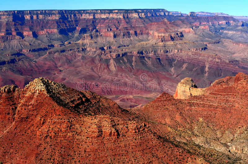Grand Canyon Arizona. Late afternoon in the Grand Canyon Arizona stock photo