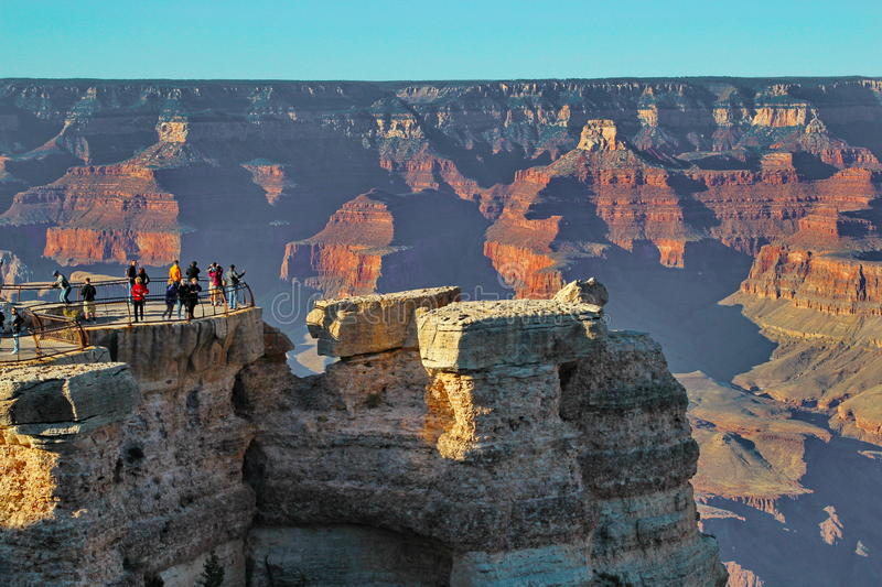Grand Canyon Arizona lookout point stock photography