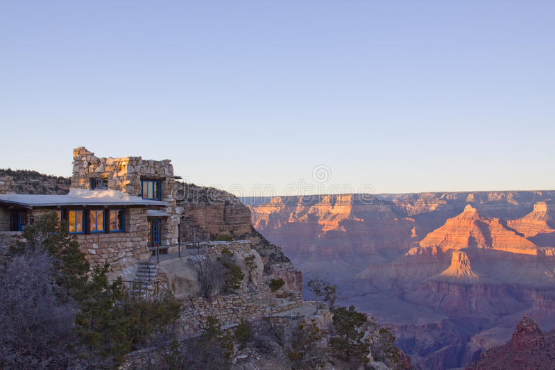 Grand Canyon Arizona sunset. Grand Canyon National Park, Located in Arizona. A colorful vista during the sunset stock photography
