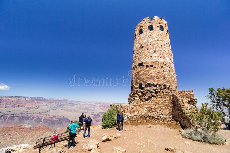 Grand Canyon Desert View Watch Tower royalty free stock photography
