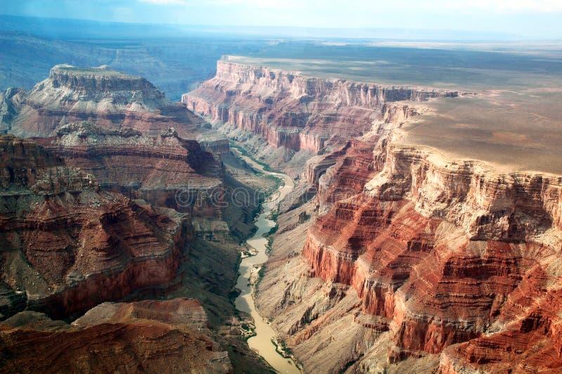 Grand Canyon Arizona veduta dall'aeroplano immagini stock