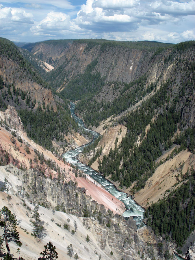Grand Canyon av Yellowstonen arkivfoto