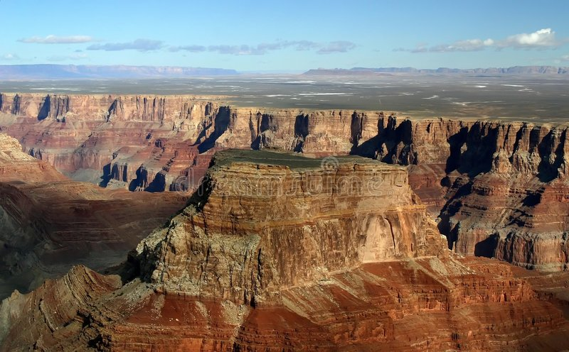 Download Grand Canyon Butte Aerial stock photo. Image of flight - 105746