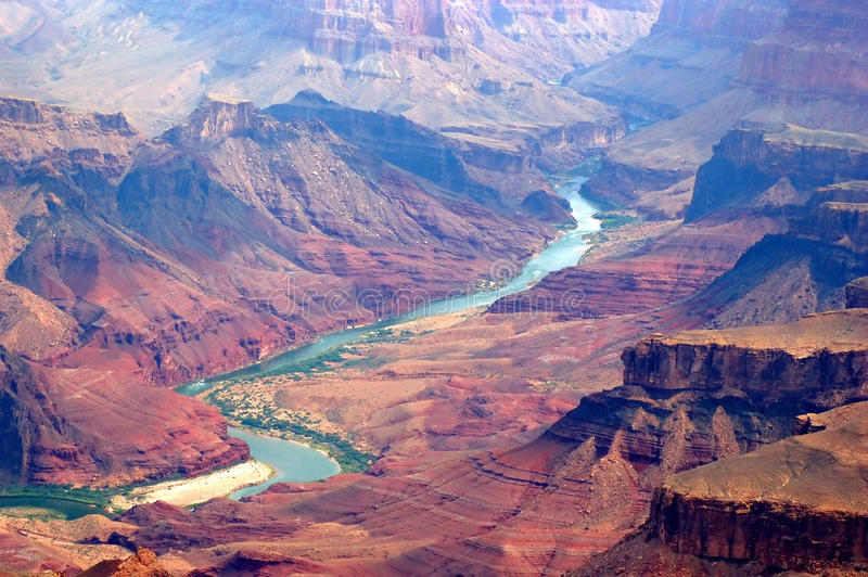 Grand canyon and colorado river royalty free stock images