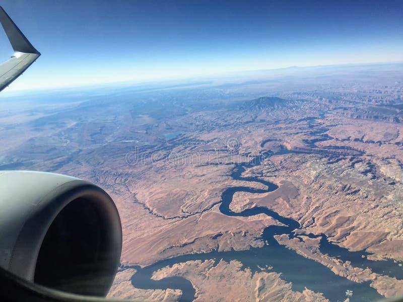 Grand Canyon dall'aria immagine stock