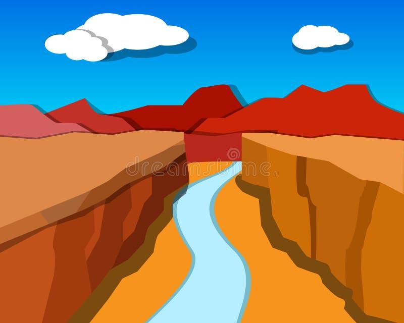 Grand Canyon dans le style d'origami, vecteur illustration libre de droits