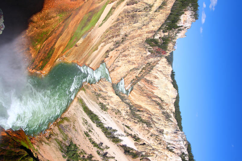 Grand Canyon de la rivière Yellowstone photos stock