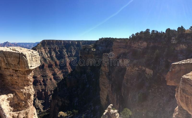 Grand Canyon de surpresa imagem de stock