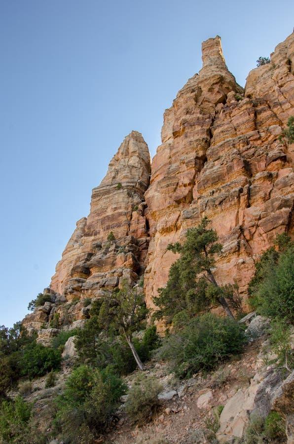 Grand Canyon -de Vormingen van de Schoorsteenrots stock afbeeldingen