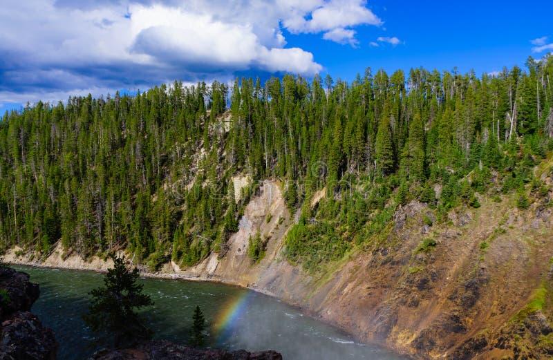 Grand Canyon del parco nazionale di pietra giallo fotografia stock