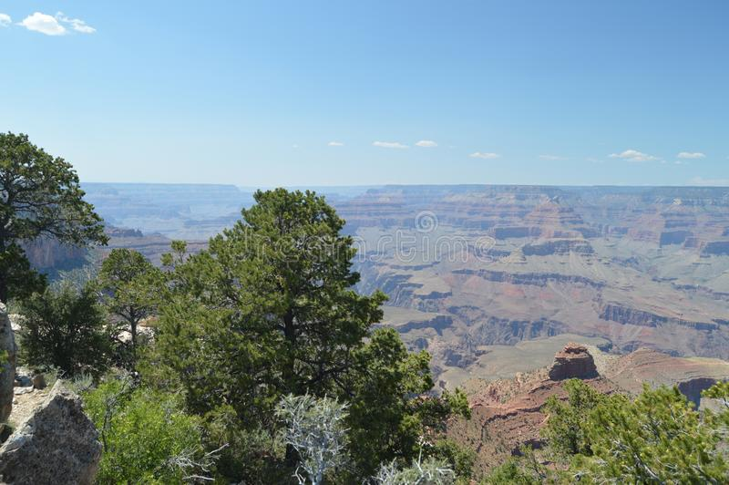 Grand Canyon des Kolorado-Flusses E Geologische Anordnungen lizenzfreie stockbilder