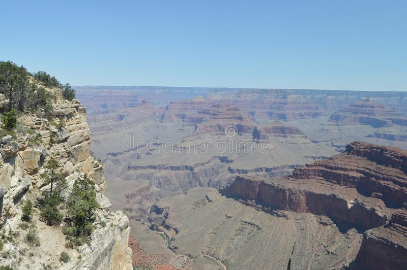 Grand Canyon des Kolorado-Flusses Hermist-Rest-Weg Geologische Anordnungen lizenzfreies stockfoto