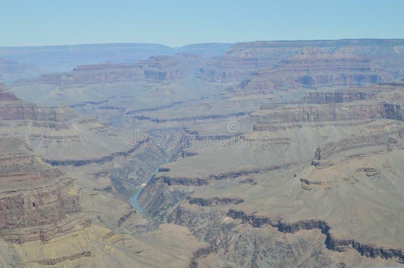 Grand Canyon des Kolorado-Flusses Hermist-Rest-Weg Geologische Anordnungen lizenzfreie stockbilder