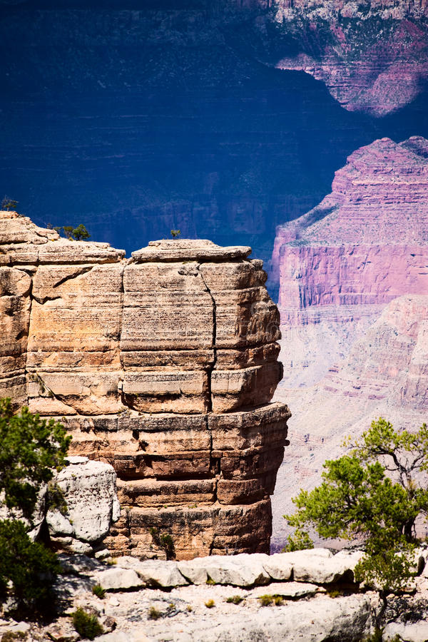 Grand Canyon Detail. Rocky Ridge inside Grand Canyon National Park stock images