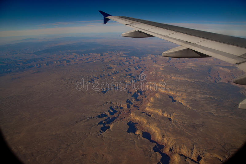 Grand Canyon do ar fotografia de stock royalty free