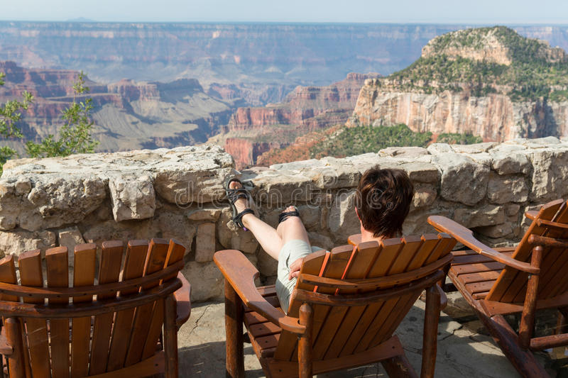 Grand Canyon donnent sur photo stock