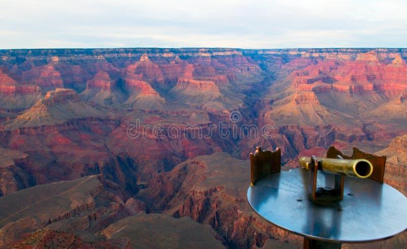 Grand Canyon dopo incandescenza immagine stock