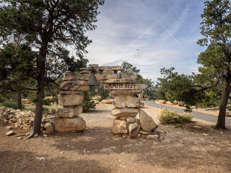 Grand Canyon -Einsiedler-Rest, Arizona stockfotografie