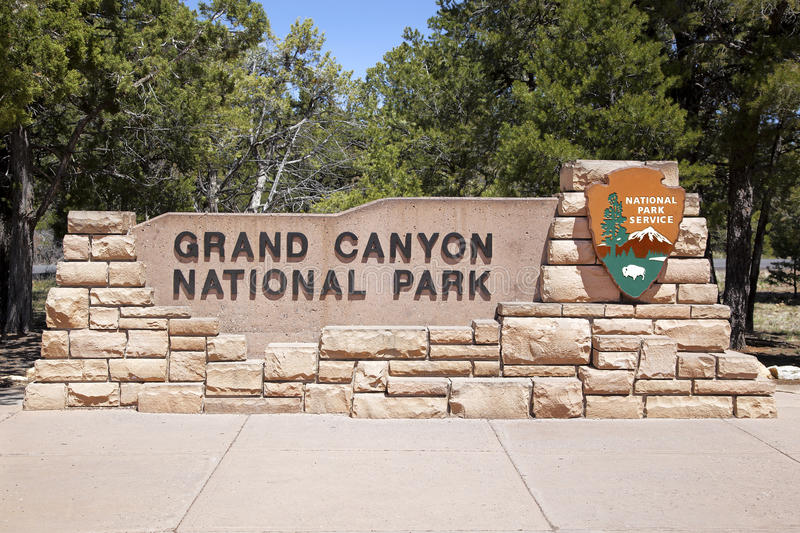 Download Grand Canyon Entrance stock image. Image of sunny, park - 24636137