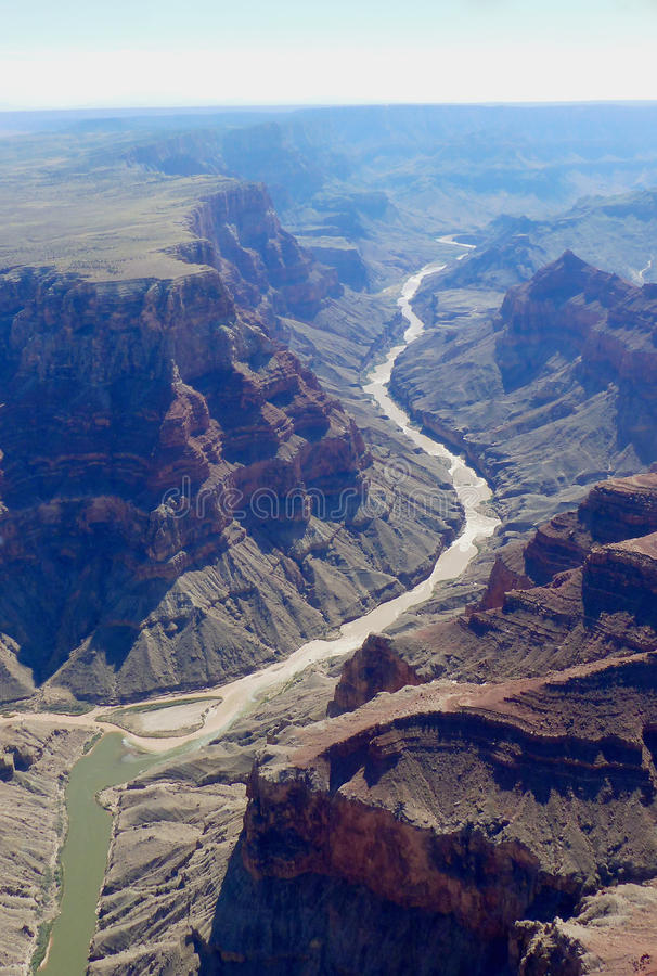 Free Grand Canyon From The Air Stock Image - 64682331